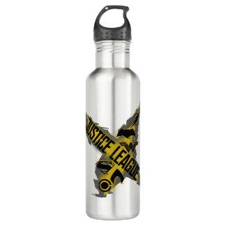 Botella De Agua Símbolos de la liga y del equipo de justicia de la