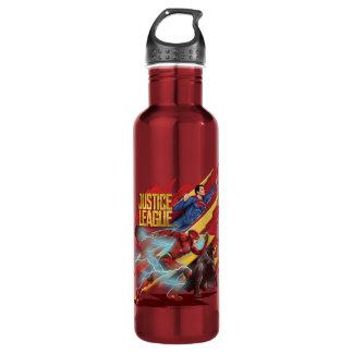Botella De Agua Superhombre de la liga de justicia el |, flash, y