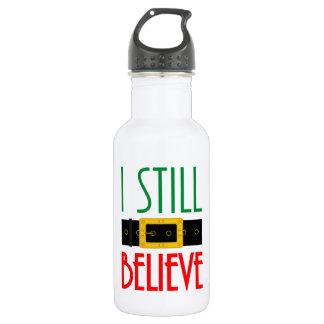Botella De Agua Todavía creo navidad de la correa de Santa