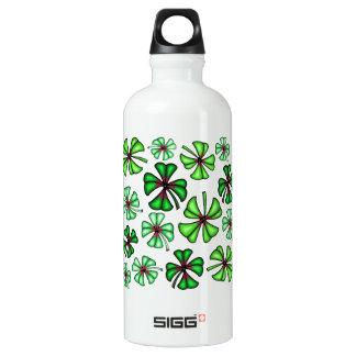 Botella De Agua Trébol afortunado del trébol