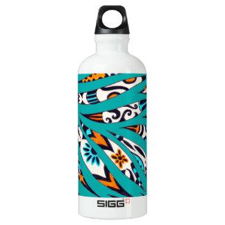 Botella De Agua Trullo enrrollado manchado de tinta del arte del