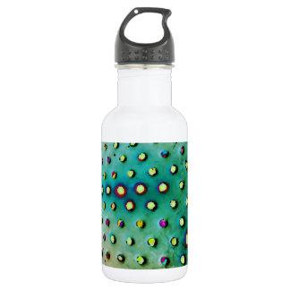 Botella de agua verde/multi de los puntos