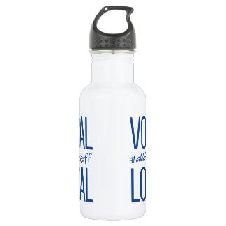 Botella de agua vocal y local del metal