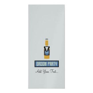 Botella de cerveza del fiesta del novio Z77yx Invitación 10,1 X 23,5 Cm