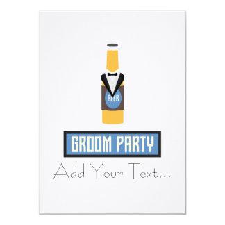 Botella de cerveza del fiesta del novio Z77yx Invitación 11,4 X 15,8 Cm