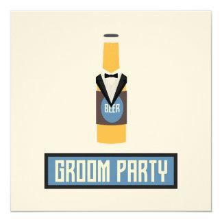 Botella de cerveza del fiesta del novio Z77yx Invitación 13,3 Cm X 13,3cm