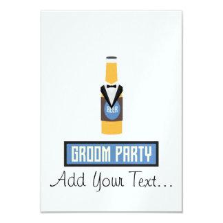 Botella de cerveza del fiesta del novio Z77yx Invitación 8,9 X 12,7 Cm