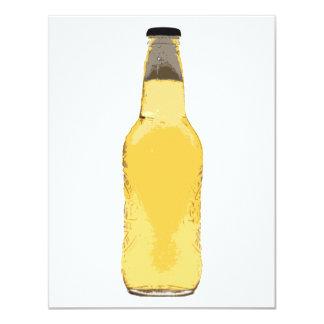 Botella de cerveza invitación 10,8 x 13,9 cm