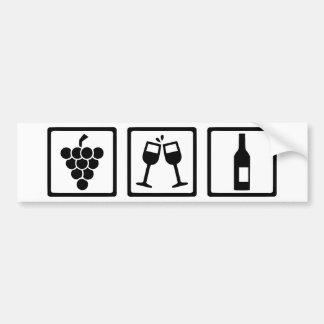 Botella de copas de vino de las uvas pegatina para coche