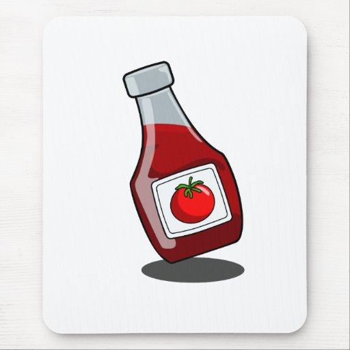 Botella de salsa de tomate del dibujo animado Mous Tapete De Raton ...
