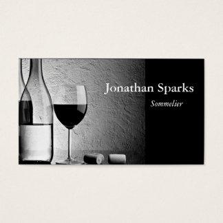 Botella de vino del Sommelier Tarjeta De Visita