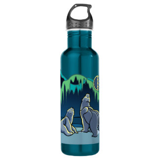 Botella del deporte del arte del oso nativo del