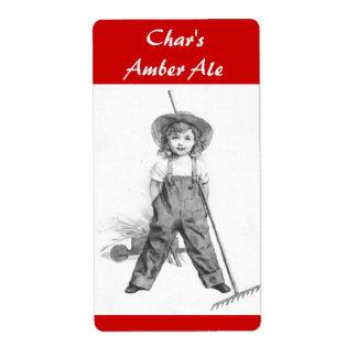 Botella-etiqueta del hogar de la cerveza de Homebr Etiquetas De Envío