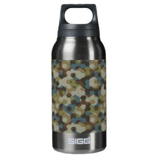 Botella Isotérmica Camuflaje de color caqui del hexágono