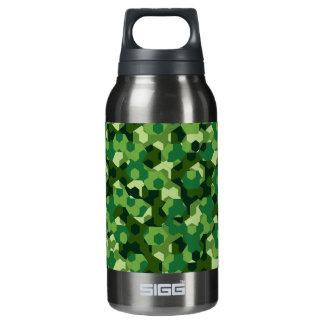 Botella Isotérmica Camuflaje geométrico del bosque