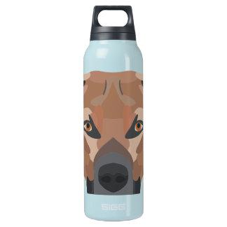 Botella Isotérmica Perro Brown Labrador del ilustracion