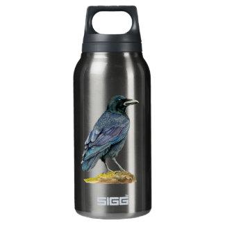 Botella Isotérmica Pintura de la acuarela del cuervo