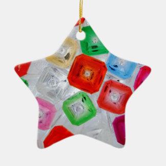 botellas 1 adorno navideño de cerámica en forma de estrella