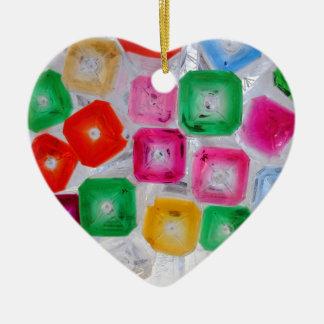 botellas adorno navideño de cerámica en forma de corazón