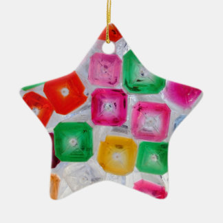 botellas adorno navideño de cerámica en forma de estrella