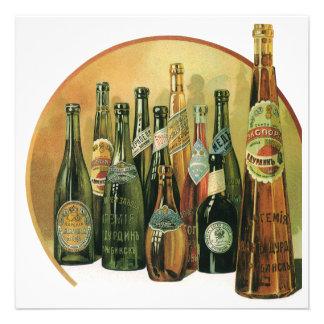 Botellas de cerveza importadas vintage alcohol b