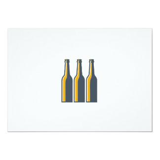 Botellas de cerveza retras invitación 12,7 x 17,8 cm