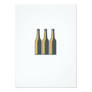 Botellas de cerveza retras invitación 13,9 x 19,0 cm