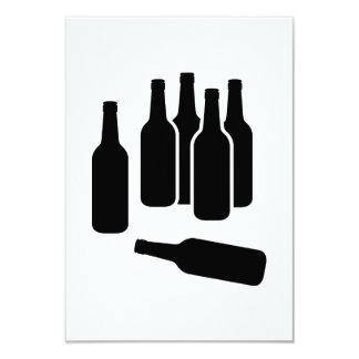 Botellas de vino de la cerveza invitación 8,9 x 12,7 cm