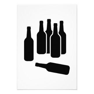Botellas de vino de la cerveza invitacion personalizada