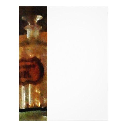 Botellas del boticario tarjeta publicitaria
