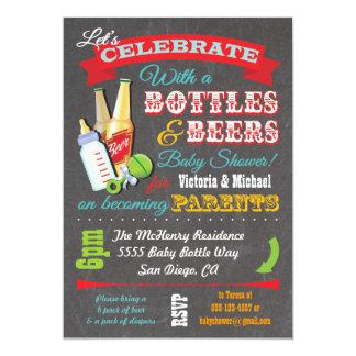 Botellas e invitaciones de la fiesta de bienvenida invitación 12,7 x 17,8 cm
