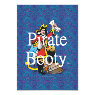 Botín del pirata de la CAMISETA Invitacion Personalizada