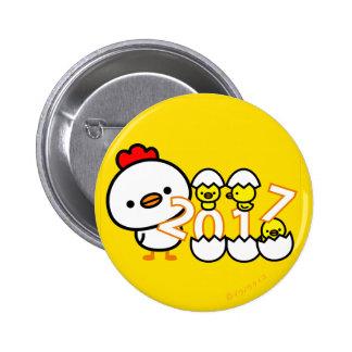 botón 2017 del Año Nuevo del pollo
