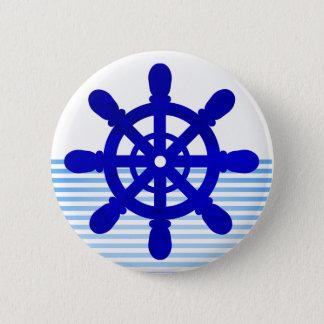 Botón #2 blanco de la rueda del marinero