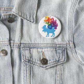 Botón abstracto de los alces