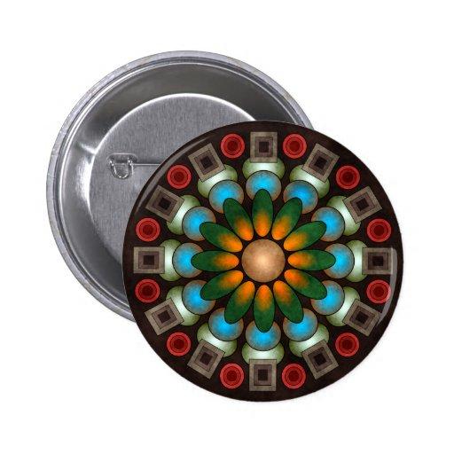 Botón abstracto floral lindo del arte del vector ( pin