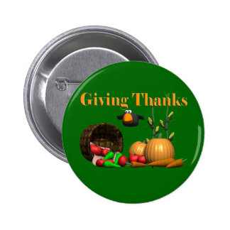 Botón - acción de gracias que da gracias