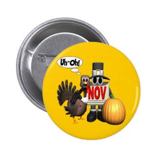 Botón - acción de gracias Turquía
