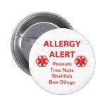 Botón adaptable de la alarma de la alergia pins
