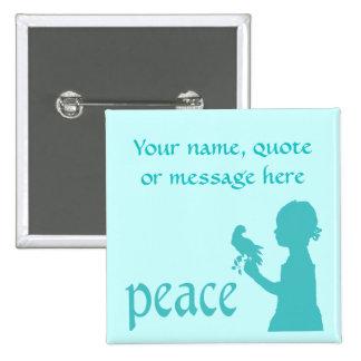 Botón adaptable de la paz