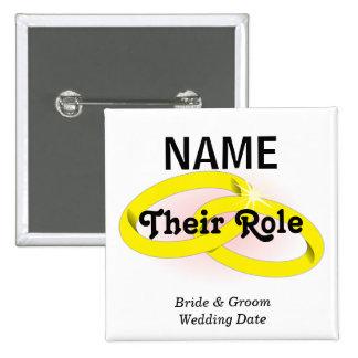 Botón adaptable del banquete de boda