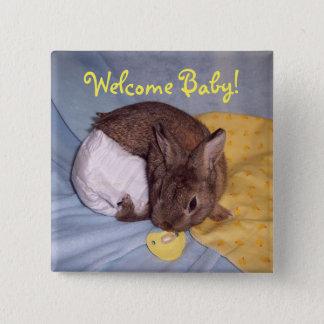 Botón agradable del conejito del bebé