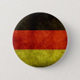 Botón alemán de la bandera del Grunge