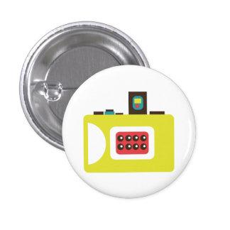 Botón (amarillo) retro del instinto de la cámara d