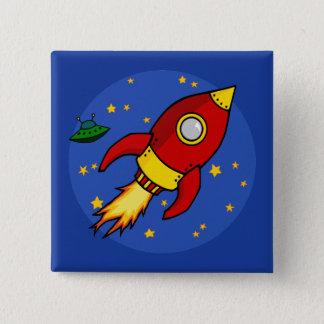 Botón amarillo rojo de Rocket