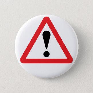 Botón amonestador europeo de la señal de tráfico