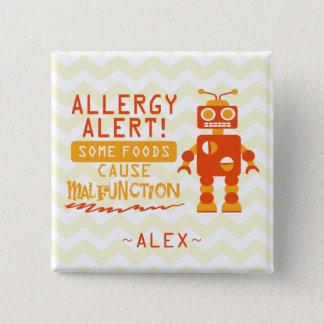 Botón anaranjado de la alarma de la alergia