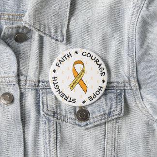 Botón ANARANJADO de la cinta de la esclerosis