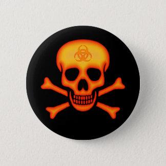 Botón anaranjado del cráneo del Biohazard