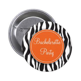 Botón anaranjado del fiesta de Bachelorette del es Pins
